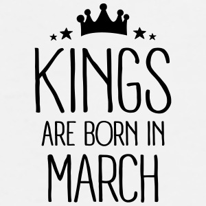 Kings Are Born In March Mugs & Drinkware - Men's Premium T-Shirt