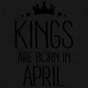 Kings Are Born In April Mugs & Drinkware - Men's Premium T-Shirt