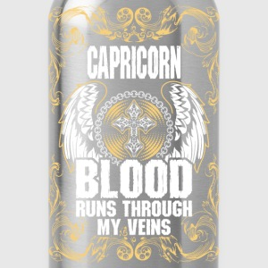 Capricorn Blood Runs Through My Veins T-Shirts - Water Bottle