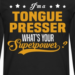 Tongue Presser - Men's Premium Long Sleeve T-Shirt