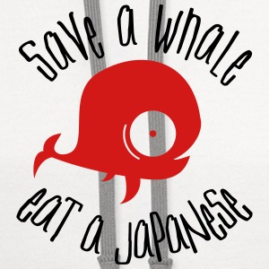Save Whales T-Shirts - Contrast Hoodie