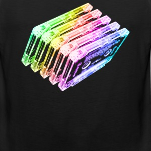 Cassette Tape Rainbow  - Men's Premium Tank
