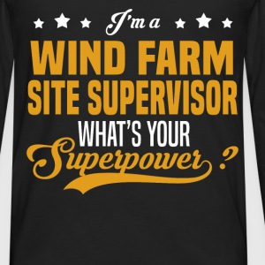 Wind Farm Site Supervisor - Men's Premium Long Sleeve T-Shirt