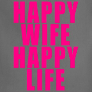 Happy Wife - Happy Life T-Shirts - Adjustable Apron