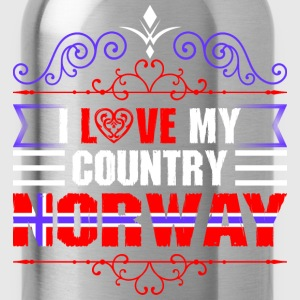 I Love My Country Norway T-Shirts - Water Bottle