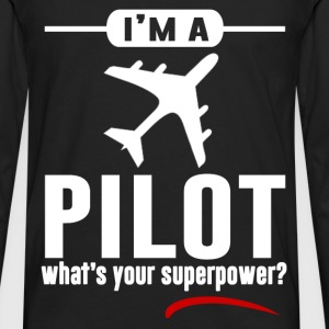 pilot 891829121.png T-Shirts - Men's Premium Long Sleeve T-Shirt