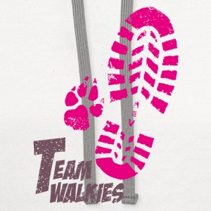 Team walkies pink Baby & Toddler Shirts - Contrast Hoodie