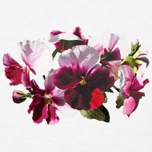 Pink and Magenta Pansies Other - Men's T-Shirt