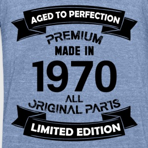 Premium Vintage 1970 Long Sleeve Shirts - Unisex Tri-Blend T-Shirt by American Apparel