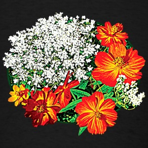 Queen Anne's Lace with Orange Flowers Caps - Men's T-Shirt