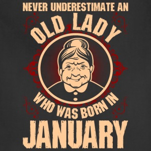 Never Underestimate An Old Lady Who Was Born In Ja T-Shirts - Adjustable Apron