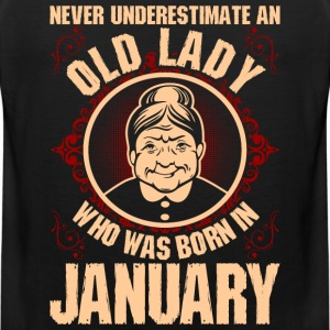 Never Underestimate An Old Lady Who Was Born In Ja T-Shirts - Men's Premium Tank