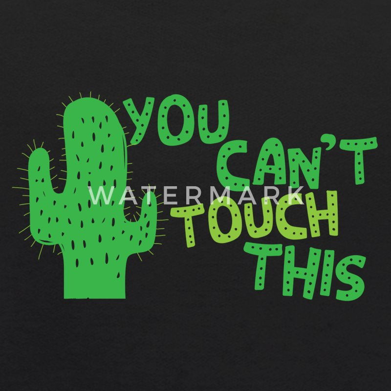 You cant touch this!  (spiked cactus) Sweatshirts - Kids' Hoodie