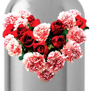 Rose and Carnation Heart Tanks - Water Bottle