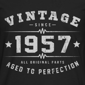 Vintage 1957 Aged To Perfection T-Shirts - Men's Premium Long Sleeve T-Shirt