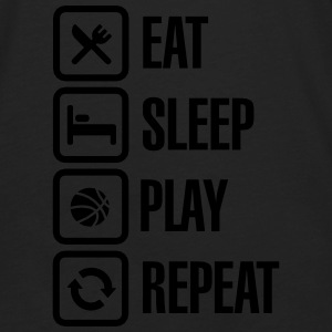 Eat Sleep Basketball Repeat Hoodies - Men's Premium Long Sleeve T-Shirt