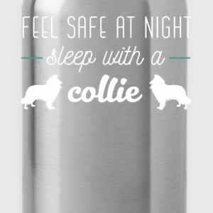 Collie - Feel safe at night sleep with a Collie - Water Bottle
