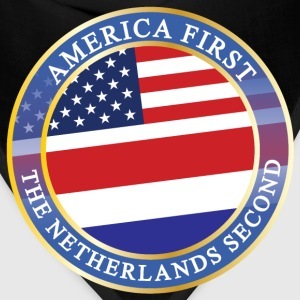 AMERICA FIRST THE NETHERLANDS SECOND T-Shirts - Bandana