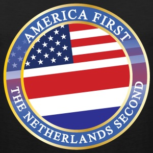 AMERICA FIRST THE NETHERLANDS SECOND T-Shirts - Men's Premium Tank