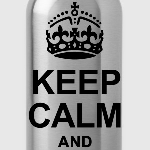 KEEP CALM AND WRITE YOUR TEXT Caps - Water Bottle
