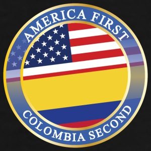 AMERICA FIRST COLOMBIA SECOND Mugs & Drinkware - Men's Premium T-Shirt