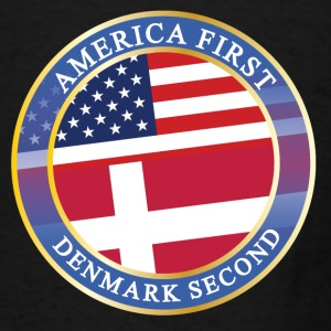 AMERICA FIRST DENMARK SECOND Aprons - Men's T-Shirt