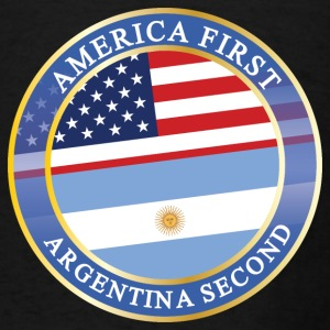 AMERICA FIRST ARGENTINA SECOND Aprons - Men's T-Shirt