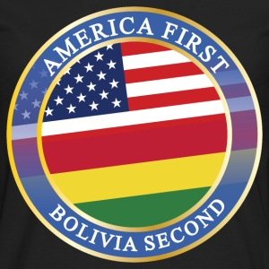 AMERICA FIRST BOLIVIA SECOND T-Shirts - Men's Premium Long Sleeve T-Shirt