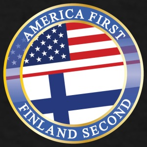 AMERICA FIRST FINLAND SECOND Mugs & Drinkware - Men's T-Shirt