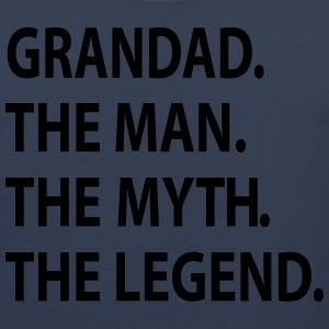 GRANDAD the man the myth the legend. T-Shirts - Men's Premium Tank