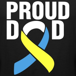 Down Syndrome Proud Dad T-Shirts - Men's Premium Tank