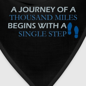 Inspirational Quotes - A journey of a thousand mil - Bandana