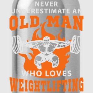 Never Underestimate an Old Man loves Weightlifting T-Shirts - Water Bottle