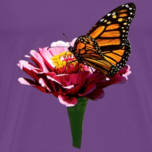 Monarch Butterfly on Pink Tanks - Men's Premium T-Shirt