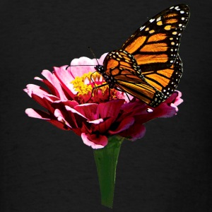 Monarch Butterfly on Pink Other - Men's T-Shirt