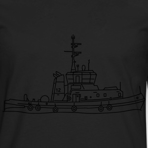 Tug or towing boat T-Shirts - Men's Premium Long Sleeve T-Shirt