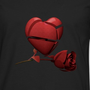Red Heart and Red Rose Women's T-Shirt - Men's Premium Long Sleeve T-Shirt