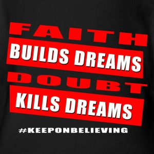 Faith builds dreams - Short Sleeve Baby Bodysuit