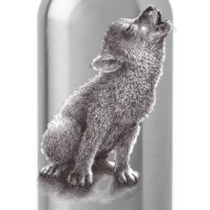 Funny Howling Wolf - Water Bottle