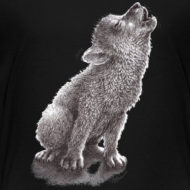 Funny Howling Wolf