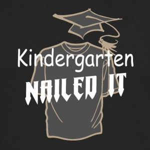 Kindergarten nailed it graduation funny t-shirt - Men's Premium Long Sleeve T-Shirt