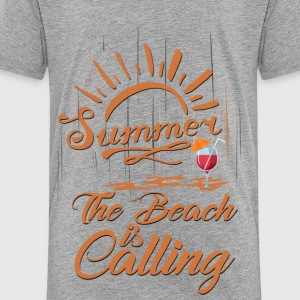 The Beach is Calling Kids' Shirts - Toddler Premium T-Shirt