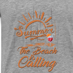 The Beach is Calling Tanks - Men's Premium T-Shirt