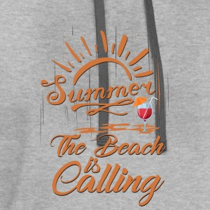 The Beach is Calling Tanks - Contrast Hoodie