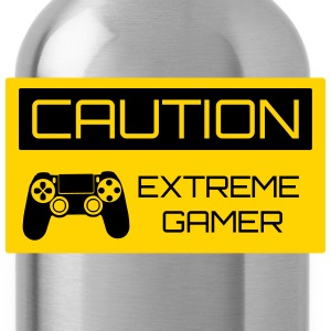 Caution Extreme Gamer Kids' Shirts - Water Bottle