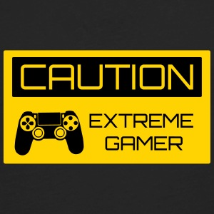 Caution Extreme Gamer Kids' Shirts - Men's Premium Long Sleeve T-Shirt