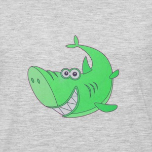 Big Green Cartoon Shark - Men's Premium Long Sleeve T-Shirt