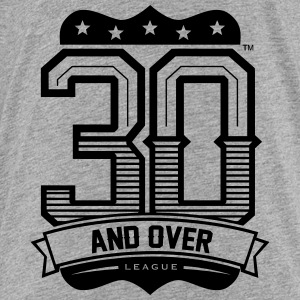 GREY AND BLACK KIDS 30 AND OVER LEAGUE TEE - Toddler Premium T-Shirt