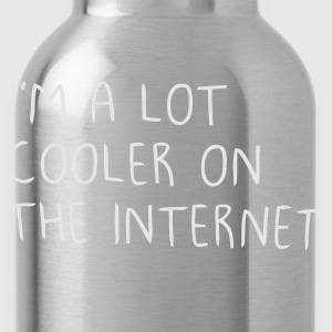 I'm a lot cooler on the internet Kids' Shirts - Water Bottle