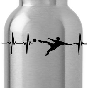 MY HEART BEATS FOR SOCCER! Kids' Shirts - Water Bottle